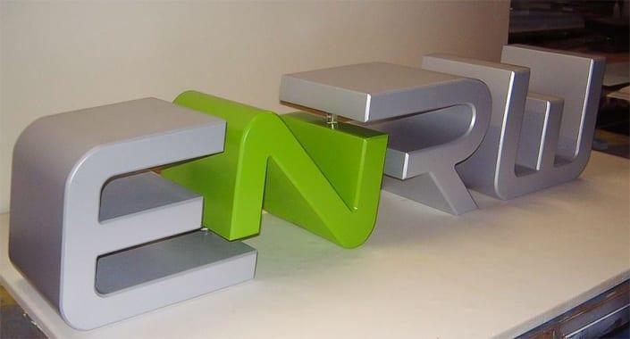 3D Buchstaben 12